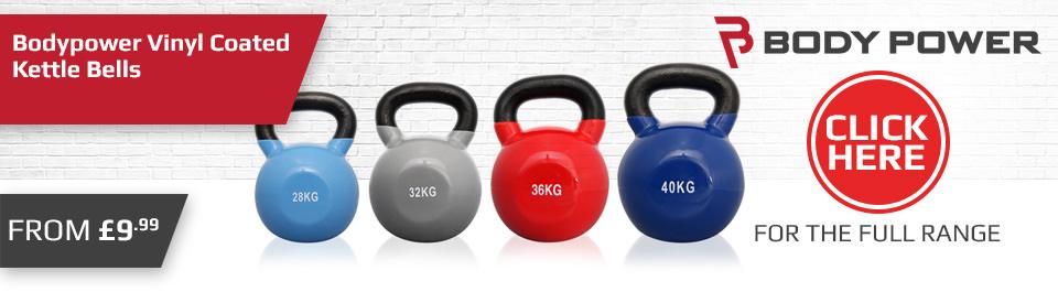 Gym Equipment - Body Power - Vinyl Kettlebells