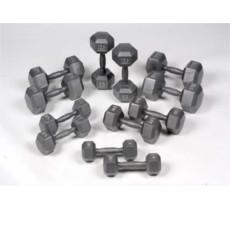 Hexagonal Iron Dumbbells