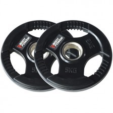 Rubber Encased Multi-Grip Olympic Weight Plates