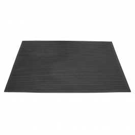 5 x Pro Heavy Duty Large Rubber Gym Black Crossfit Mat commercial Flooring 17 mm