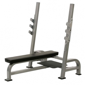 York 'STS Range' Olympic Flat Bench Press with Gun Rack