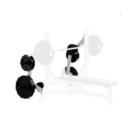 Hammer Strength Full Commercial Olympic Bench Weight Storage