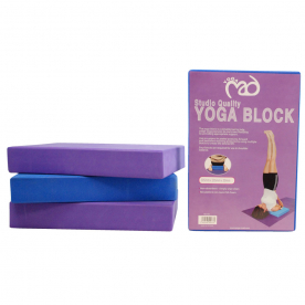 Yoga-Mad Yoga Block (Blue) 30 x 20 x 5cm