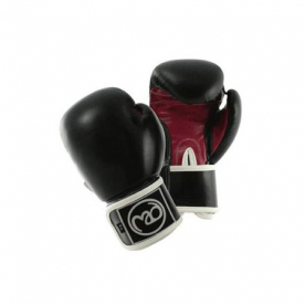 Boxing-Mad Womens Fit 8oz Leather Pro Sparring Gloves Black/Pink