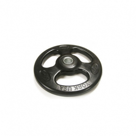 York 20kg Rubber Olympic ISO-Grip Plate (x1)