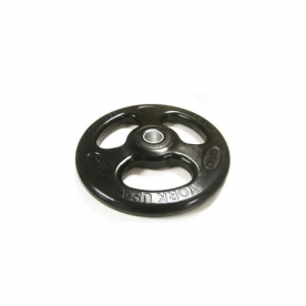 York 25kg Rubber Olympic ISO-Grip Plate (x1)