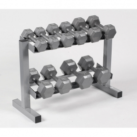 Body Power Hex Dumbbells & Rack - 5,7,10,12.5 & 15Kg
