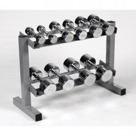 Body Power Ergo Chrome Dumbbells & Rack - 2,4,6,10 & 12.5Kg
