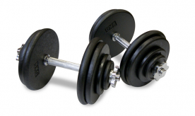 Body Power 45Kg Spinlock Pro-Style Dumbbell Weight Set