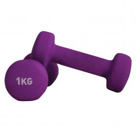 Neoprene Coated Dumbbells 1.0kg Purple