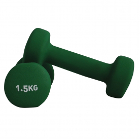 Neoprene Coated Dumbbells 1.5kg Green