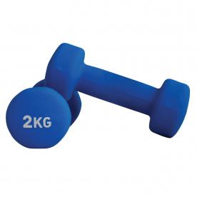 Neoprene Coated Dumbbells 2.0kg Blue