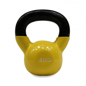 Body Power 4kg Vinyl Coated Kettlebell (x1)