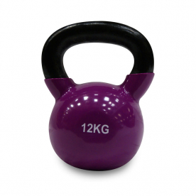 Body Power 12kg Vinyl Coated Kettlebell (x1)