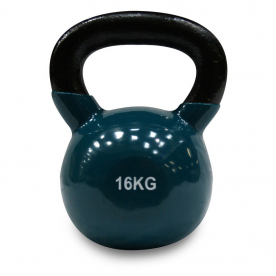Body Power 16kg Vinyl Coated Kettlebell (x1)