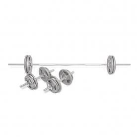 Body Power 50Kg 5FT Tri-Grip Spinlock Weight Set