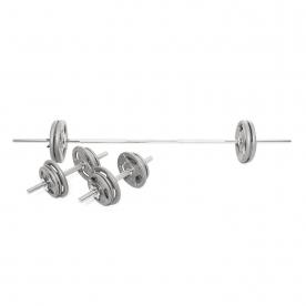 Body Power 50Kg 5FT Tri-Grip Combi  Standard Weight Set