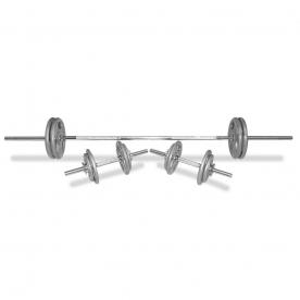 Body Power 51Kg 6FT Tri-Grip Spinlock Weight Set