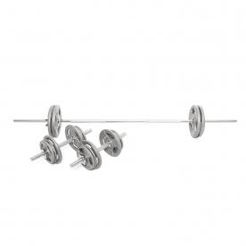Body Power 51Kg 6FT Tri-Grip Combi Standard Weight Set