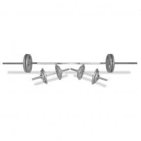 Body Power 52Kg 7FT Tri-Grip Spinlock Weight Set