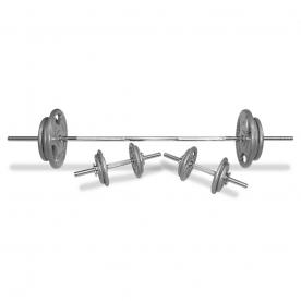Body Power 70Kg 5FT Tri-Grip Spinlock Weight Set