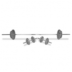 Body Power 70Kg 5FT Tri-Grip Combi Standard Weight Set