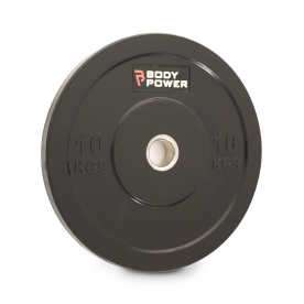 Body Power 10Kg Solid Rubber Olympic Weight Plate (x1)