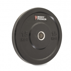 Body Power 15Kg Solid Rubber Olympic Weight Plate (x1)