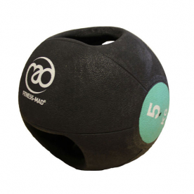Fitness-MAD 5kg Double Grip Medicine Ball - Green