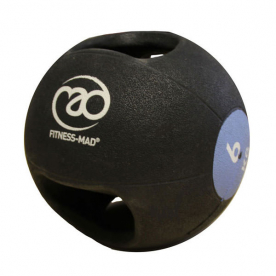 Fitness-MAD 6kg Double Grip Medicine Ball - Blue