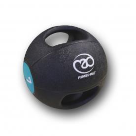 Fitness-MAD 7kg Double Grip Medicine Ball - Dark Green