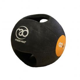 Fitness-MAD 8kg Double Grip Medicine Ball - Orange