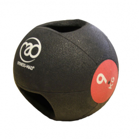Fitness-MAD 9kg Double Grip Medicine Ball - Red