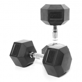Body Power 22.5Kg Rubber Hex Dumbbells (x2)