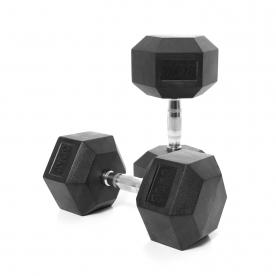 Body Power 30Kg Rubber Hex Dumbbells (x2)