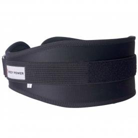Body Power Nylon Curved Weightlifting Belt (Medium)