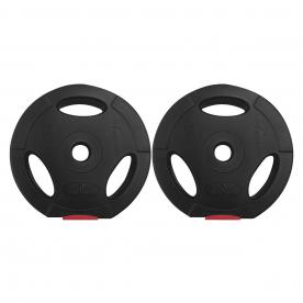 Body Power 5Kg Tri Grip Vinyl Standard Weight Plates (x2)