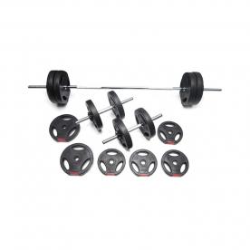 Body Power 42kg Tri-Grip Vinyl Weight Set