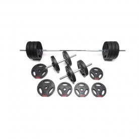 Body Power 52kg Tri-Grip Vinyl Weight Set
