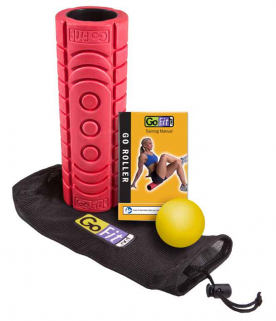 GoFit Go Roller Travel Roller with self Massage Ball