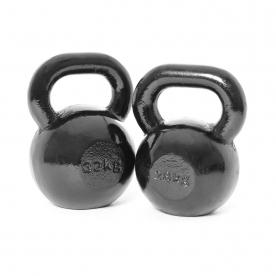 Body Power 28 & 32Kg Cast Iron Kettlebell Weight (Set C)
