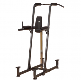 Body-Solid Fusion Light Commercial Vertical Knee Raise/Dip/Pull-Up Station