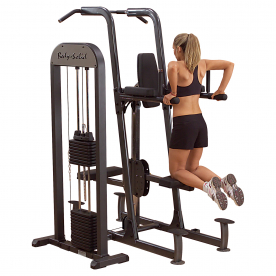 Body-Solid Pro-Select Fusion 210lb Assisted Chin-Dip-Knee Raise Machine