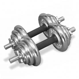 Body Power 20kg Chrome Spinlock Dumbbell Weight Set