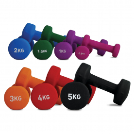 Fitness-MAD Neoprene Coated Dumbbells Pairs (choose from 0.5 - 5kg)