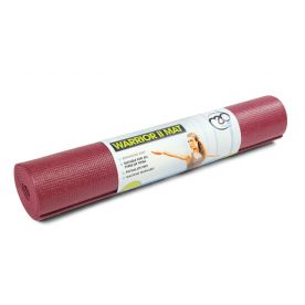 Burgundy Warrior II 4mm Yoga Mat Phtha