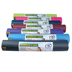 Yoga-Mad Warrior II 4mm Yoga Mat Phthalate Free (choose from 7 colours)