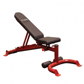 Body-Solid Flat/Incline/Decline Utility Bench (RED)