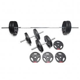 Body Power 37kg Tri-Grip Vinyl Weight Set