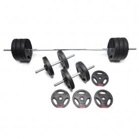 Body Power 47kg Tri-Grip Vinyl Weight Set